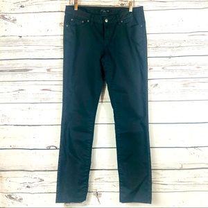 Prana Organic Cotton Pants Jeans Navy Stretch 6/28